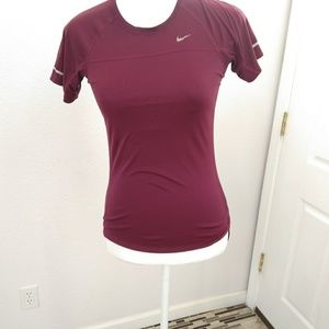 Nike dry fit purple top size xsmall